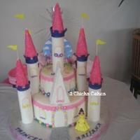 Princess Belle Castle This cake was a nightmare! I prepped for it all week and pulled my first all-nighter to get it finished. The towers are RKT pushed through...