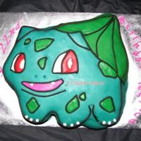 "Pokemon Bulbasaur Birthday Cake Made for my son's girlfriend, who is a child at heart in the best way. :)Pokemon Bulbasaur designed ""old school"" like the..."