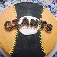Giants Birthday Cake This is a birthday cake for and HUGE San Francisco Giants fan. He is celebrating his 80th birthday. Triple chocolate cake with banana...