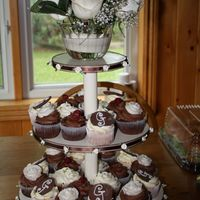 My First Cupcake Display My dad made the cupcake stand and I made and decorated the cupcakes. It was for a bridal shower for my future sister in law. Don't...