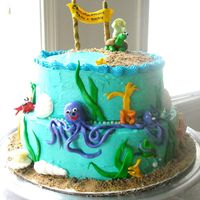 Underwater Themed Baby Shower Cake This was so much fun! Let me know what ya think...only my 3rd cake!