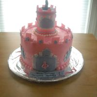 Castle Cake I made this castle for my daughters first birthday.