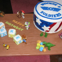 "Toy Story ""andy's Room"" Did this one for my son's 4th birthday. He is obsessed with Toy Story. he loves the soliders, I copied the bucket of soliders from the..."