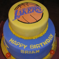 Los Angeles Lakers Cake
