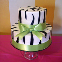 "Zebra Print And Green 14Th Birthday Cake I made this cake for my niece's 14th birthday party!... She insisted on ""Zebra Print"" which made me nervous, but it ended up..."