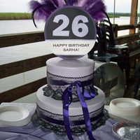 Purple Feathers With Black Lace 26Th Birthday Cake I made this birthday cake for my best friend's surprise birthday party!... She was even more surprised when she found out that it was...