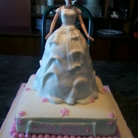 Cinderella/barbie Cake This was a cake for a little girls first communion. Mom wanted to replicate the dress her daughter would be wearing...