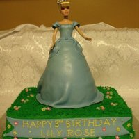 Cinderella Cinderella Dress is Lemon Sponge cake layered with Vanilla Buttercream. Covered with MMF, dusted with shimmer dust.9x13 cake is Lemon...