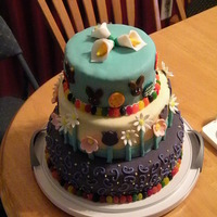Spring Easter Cake This was a fun cake I made for my family. I had some extra fondant from some previous cakes and put this together. Thanks for looking!