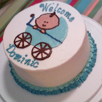 Simple Bct Baby Shower Cake