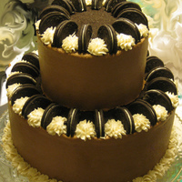 Oreo Cake Chocolate WASC with Oreo filling and chocolate and vanilla butter cream