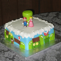 Mario Brothers Grooms Cake