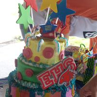 High School Musical Birthday Cake Wow, this was awesome! It was a high school musical themed cake for my nieces 7th Birthday. She helped with the colors and decorating ideas...