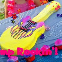 "Girl's Guitar Cake My sister, who is awesome ( I think I forgot to mention this before!) made this for her little girls 8th Birthday Party. We had a ""..."