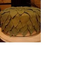 Weeping Willow Cake A 9 inch cake covered in fondent leaves