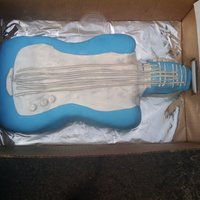 Guitar Cake i made this for my frieds son birthday . my 3rd cake just starting i wont give up
