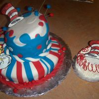 Cat In The Hat Cake For a 1st birthday cake.The Mom loved it and gave me a $50.00 tip... :)