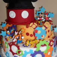 Mickey And Friends Cake for my son's 2nd birthday, he loved it! best customer yet! lol