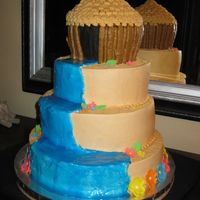 Luau Cake I made this for a family luau over the summer.