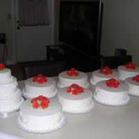 Individual Wedding Cakes I made this for a wedding where they wanted a different flavor cake on each table in place of a center piece. It was actually a lot more...
