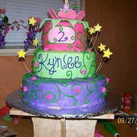 Tinkerbell   first ever fondant cake