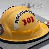 Fire Helmet A life sized replica for the firefighters 40th birthday.