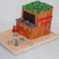 Jamaican Rum Shack This cake was made for a couple that went to Jamaica with some friends not long ago and the group of friends was getting together for...