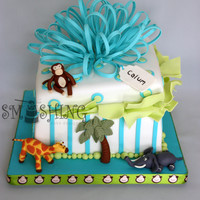 Zoo Themed Present Cake This was for a little guys 1st birthday cake. I used the book Confetti Cakes for Kids to get the idea and instructions. It had a ton of...