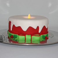 Christmas Candle I made this as a sample cake for a craft show I did this weekend. I had seen a cake originally done like this one but taller last year and...