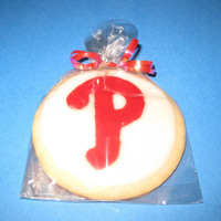 Phillies Cookie sugar cookie with royal icing