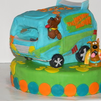 Mystery Machine Mystery machine from scooby doo with mmf and chocolate cake