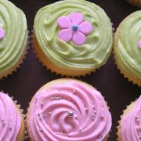 Pink & Lime .....divine!!!   Pink and Lime Buttercake Cupcakes with Buttercream Icing. Lime was Vanilla and Pink was Boysenberry flavour.