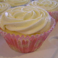 Pink Delight Vanilla cupcake with vanilla bean buttercream