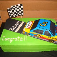 Retirement Cake For A Nascar Fan