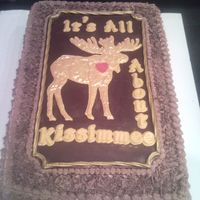 Moose Lodge Benefit Cake THIS IS A CAKE I MADE TO DONATE FOR A BENEFIT THROWN BY MY MOOSE LODGE FOR ANOTHER LODGE THAT NEEDS A NEW ROOF. THEY HAD OFFERED TO PAY FOR...