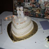 My Grandparent's 50Th Anniv Cake   this was my first stacked cake. boy have i learned alot since then. tfl