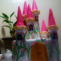 Princess Shannon Castle Daughters Birthday cake