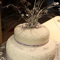 30Th Cake Wedding Themed 30th Cake2 Teir White Chocolate Mud cake covered in fondantwith lavender shimmer dust.Made by Jess