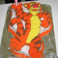Tigger Cake Butter cake covered in Buttercream icingMade by Jess