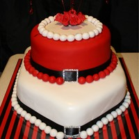 Red And Black Party Cake This cake I made for my 30th Birthday party which was red and Black themed. I saw a similar design online and adapted it to make it suit!...