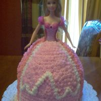 Barbie  This is my first attempt at Barbie. Full size Barbie inside the cake. This is for my best friends daughters 3rd Birthday party. After...