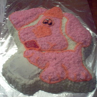 "Pink Blues Clues Puppy Someone wanted a birthday cake for their 10 year old daughter.....last minute, with a description of ""something cute for a 10 year old..."