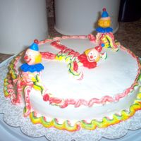 Simple Clown Cake My second cake in decorating class