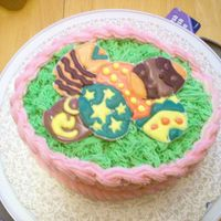 Final Cake For Course 2 This is my final cake for course two. I have to think outside the box, and with the help of my friend, the easter basket cake idea was born...