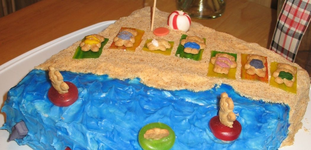 Fun At The Beach Cake