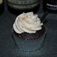 "Irish Car Bomb This is my take on the popular ""Irish Car Bomb"" turned into cupcake form. Dark chocolate Guinness cupcake filled with a Jameson..."