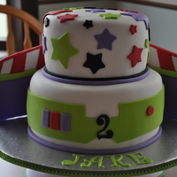 Buzz Light Year Original design by pinkicing - Jake's mom just LOVED this design and asked if I could make it into a larger cake. This is an 8inch &...