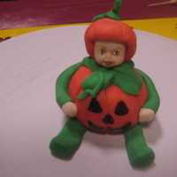 Halloween Fondant Baby ! My little Halloween Baby I just made of fondant at Cake Camp!