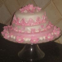 Pink Mini Tiered Shower Cake