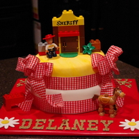 Jesse Toy Story Cake For ( Delaney )! I made and donated this cake to a beautiful little 4 year old that was just given 4 weeks to live..please keep Delaney and her family in...